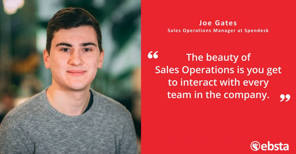 """""""Sales Operations is the metronome of the revenue function."""" - Joe Gates"""
