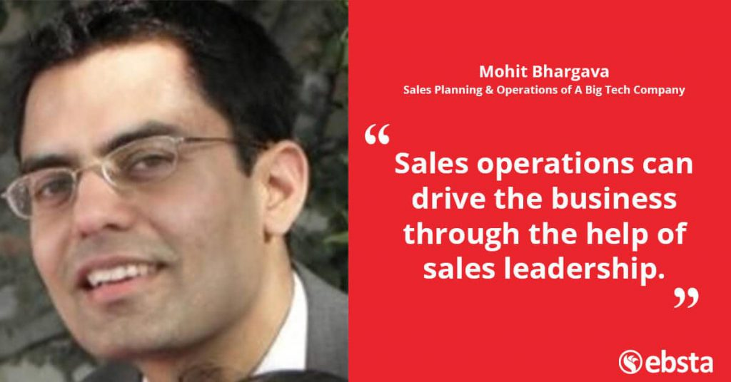 """Sales operations can drive the business through the help of sales leadership."" Mohit Bhargava"