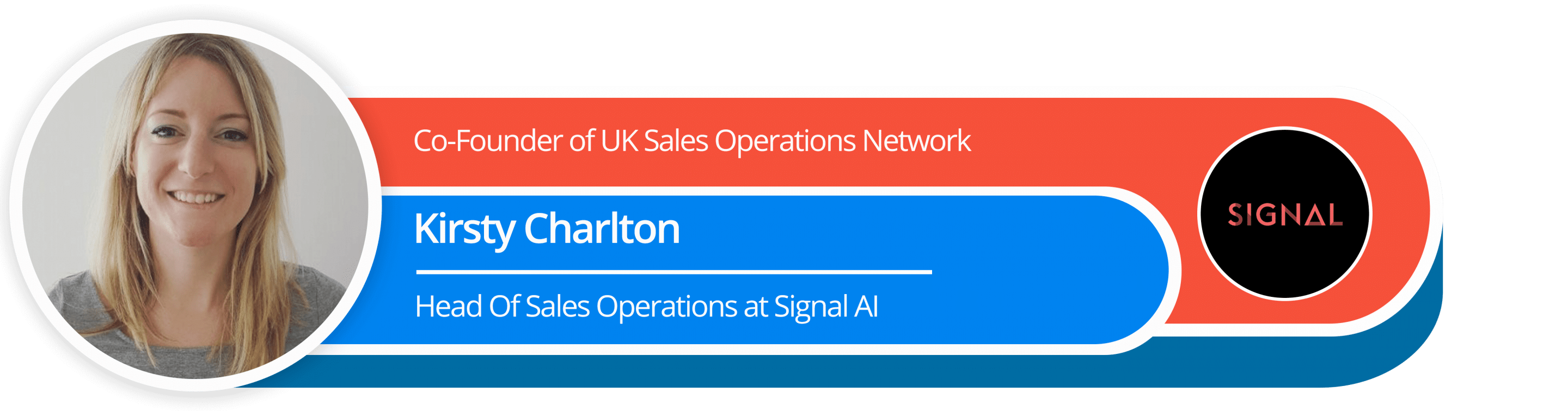 Co-Founder of UK Sales Operations Network Kirsty Charlton Head of Sales Operations at SIGNAL AI