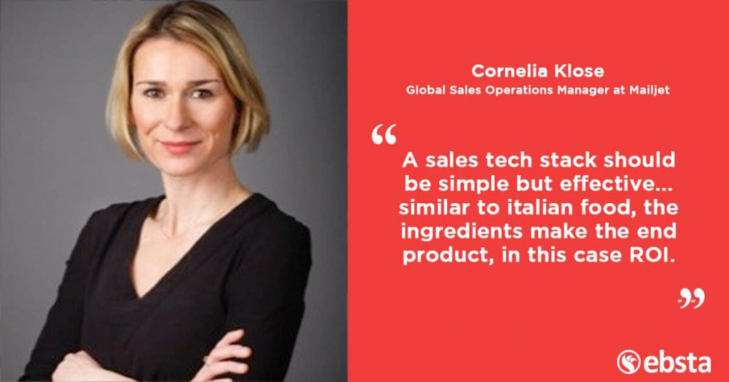 """If you want sales reps to succeed... sell them the vision for growth and instead of giving them tasks to complete."" - Cornelia Klose"