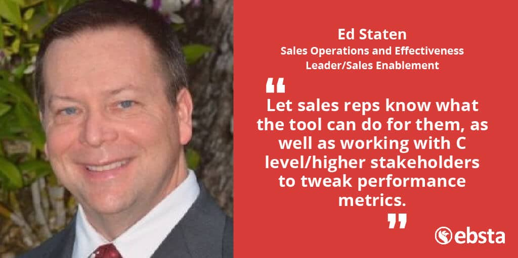 Ed Staten, Former Director Sales Operations of 3M