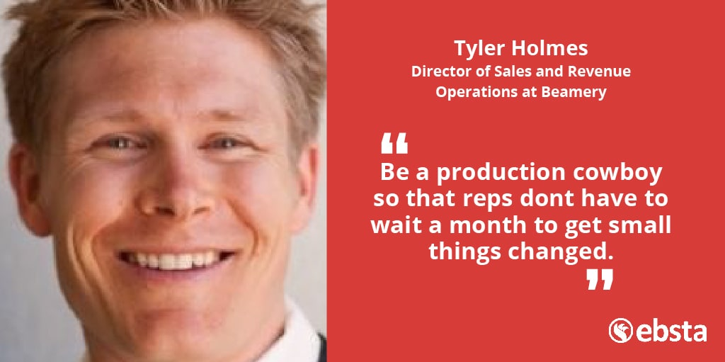 Tom Hunt: Going to another very special episode of Sales Op Demystified. We're joined by Tyler Holmes of Beamery. I think this is going to be a super interesting chat because Tyler actually comes from the light side of [chuckles] revenue operations, I'm going to say that obviously. Tyler has an extensive background in marketing, but has shifted over, and now is running sales operations at Beamery. Tyler, welcome to the show. Tyler Holmes: Thanks. Thanks for having me. Tom: I want to kick off by understanding how you got into sales operations because I can see, in your work history, that as a previous director of marketing, you were responsible for sales op. Is that how you got into it or? Tyler: I have a fairly interesting journey just in general, to where I am now. My degree is actually in microbiology, and I started out as pre-med, and life, as it seems to do, intervened, and I ended up actually in my second passion, which was teaching. I taught, seems like a lifetime ago, middle school and high school science, physics, to AP bio for about five years. Basically, I spent those five years learning how to teach teenagers, so I could figure out how to teach salespeople. Tom: [laughs] Tyler: Now, teaching salespeople was way easier than teaching teenagers. If I'm ever having a bad day, I just remember back to trying to teach a 13-year-old about mitochondria or something. The way that I started making this for and to where I am now was, my wife has been in marketing for years. We wanted to make a move to Portland, Oregon, I was looking for a job. This was at the time where teaching jobs were hard to come by, and I ended up actually getting a job at a creative agency in Portland, doing support and training for marketing automation tools. This was at a time where, believe it or not, some of this stuff was fairly new. We had about 200 clients across three or four different ESPs, one of which was ExactTarget, which now is known as Salesforce Marketing Cloud. They took a fly
