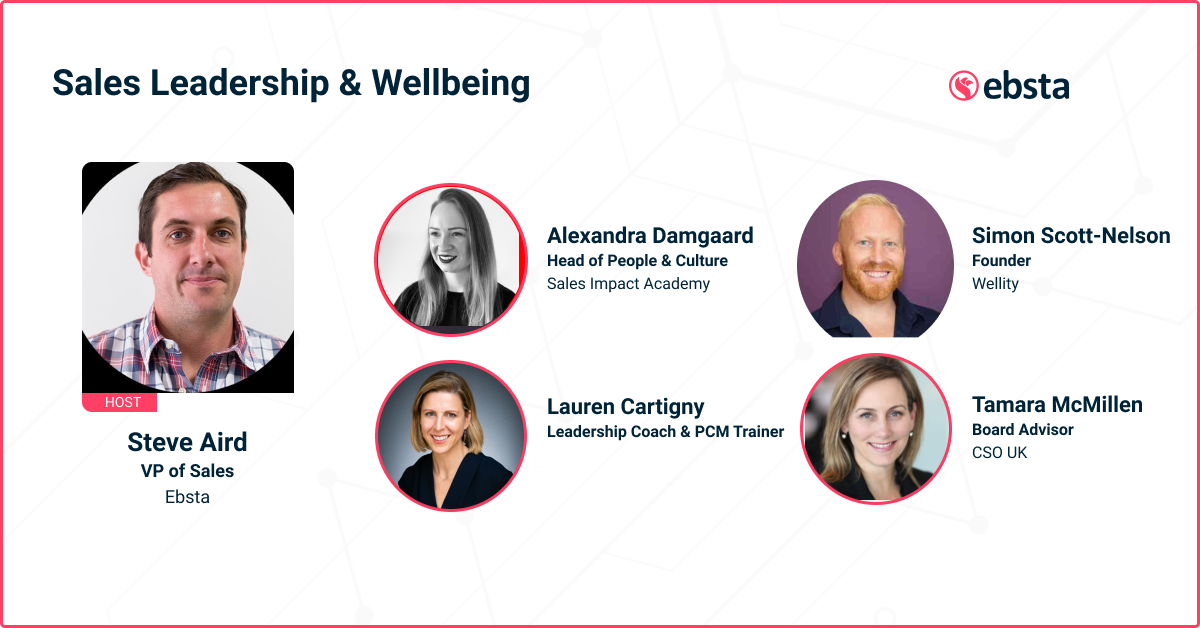 sales leadership and wellbeing cover